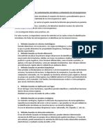 Métodos de detección de contaminación microbiana y aislamiento de microorganismos ISTL MICROBIOLOGIA
