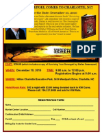 Register for Stefan Swanepoel coming to Charlotte, NC on December 10th