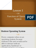 Lesson 3.1 Function of operating system