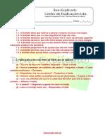 1.15 - Discurso direto e discurso indireto - Ficha de Trabalho (1) - Soluções