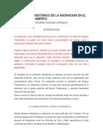 DESARROLLO HISTORICO DE LA ADORACION EN EL ANTIGUO TESTAMENTO