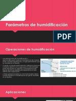 Parámetros de Humidificación