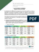 Plan de Reinicio Academico 2020 Evaluacion Del Estuindate Ajustado