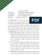 TRANSFERENCIA DE PARTICIPACIONES VALLE DEL COLCA PERU SRL ()