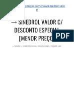 → Sinedrol Suplemento Para Que Serve? Desconto ESPECIAL [Menor PREÇO]