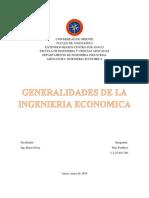 Generalidades de la Ingenieria Economica (Trabajo)