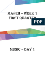 MAPEH – WEEK 1 First Quarter
