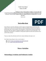 Weekly Science Report 24th Jan 2020