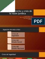 Crisis del derecho y crisis de la razón