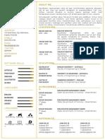 Resume or CV
