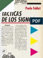 Fabbri Paolo - Tacticas De Los Signos