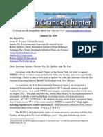 Jan_14 Letter to Kenney, Et. Al, Re Rio Grande Generating Station