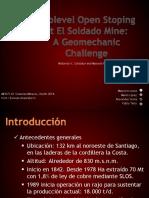 Sublevel Open Stoping at El Soldado Mine