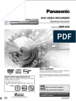 Manual - Panasonic Dvd - Dmr-e30 (User Manual)
