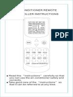 Remote control manual in English