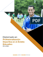 Plan de Estudio Diplomado Profesionalizacion Deportiva Ámbito Escolar