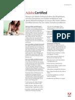 Adobe Certified Datenblatt