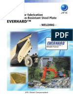 Guidelines for Fabrication JFE's Abrasion-Resistant Steel Plate Welding