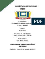 Tony Dario Vega Trejo _ Glosario