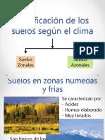 Clasificacion de los suelos según el clima