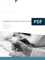 Investigation Interviews a Best Practices Guidebook