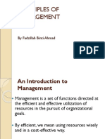 PRINCIPLES OF MANAGEMENT 1