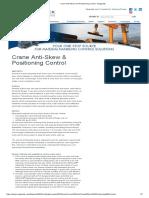Crane Anti-Skew and Positioning Control - Magnetek