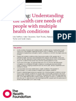 Understanding the health care needs of people with multiple health conditions