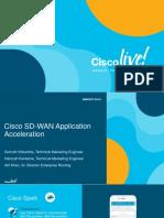 Cisco SD-WAN Application BRKRST-2514