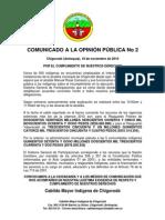 COMUNICADO DE PRENSA - 2