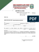 FORMATO PARA MATRÍCULA Y ACTUALIZACIÓN DE DATOS 2020