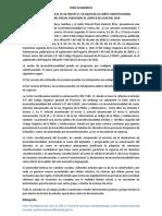 FORO 1er. B - La inconstitucionalidad de varios artículos innumerados en la Ley O de la niñez