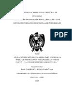 aplicacion del metodo holmeberg para optimizar la malla de perforación y voladura en la unidad parcoy-convertido (2)