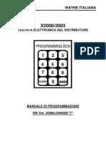 Manuale Di Programmazione Testata Elettronica x2000-x2003
