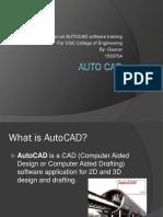 presentation on Auto CAD