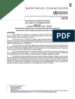Codex Alimentarius Commission - Max Levels of Arsenic in Rice - 30 Jan 2020