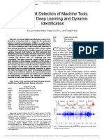 Early Fault Detection of Machine Tools Based on Deep Learning and Dynamic Identification