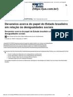 Devaneios acerca do papel do Estado brasileiro em relação às desigualdades sociais - Jus.com.br _ Jus Navigandi
