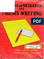 Methods of Research and Thesis Writing by Jose f. Calderon and Expectacion c. Gonzales