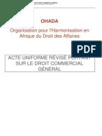 Code OHADA REVISE Droit Commercial