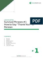 Learn Pharsi Language