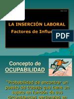 I. LA INSERCIÓN LABORAL. FACTORES DE INFLUENCIA.ppt