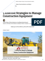 5 Effective Strategies to Manage Construction Equipment _ HashMicro