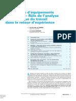 Conception d'e ´quipements industriels – Ro ˆ le de l'analyse ergonomique du travail dans le retour.pdf