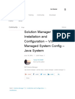 Solution Manager 7.2 – Installation and Configuration – VIII – Managed System Config – Java System