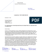 Letter from Maine DEP to Fox Islands Wind Project