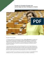Dolors Montserrat Pide a La Comisión Europea Que Investigue La Presencia Ilegal de Delcy Rodríguez en Madrid