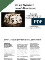 How to Manifest Financial Abundance