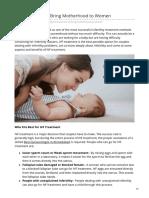 IVF Treatment to Bring Motherhood to Women