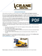 Why should you choose VA Crane Rental as your crane rental and rigging company?